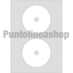 ETICHETTE ADESIVE CD 117,5 mm D. INT. 17 mm - MARKIN A464