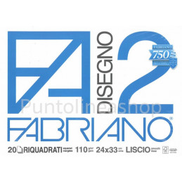 ALBUM BLOCCO FABRIANO FA2 24X33 RIQUADRATO